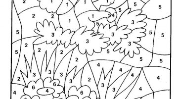 Free Printable Color By Number Pages For Kindergarten