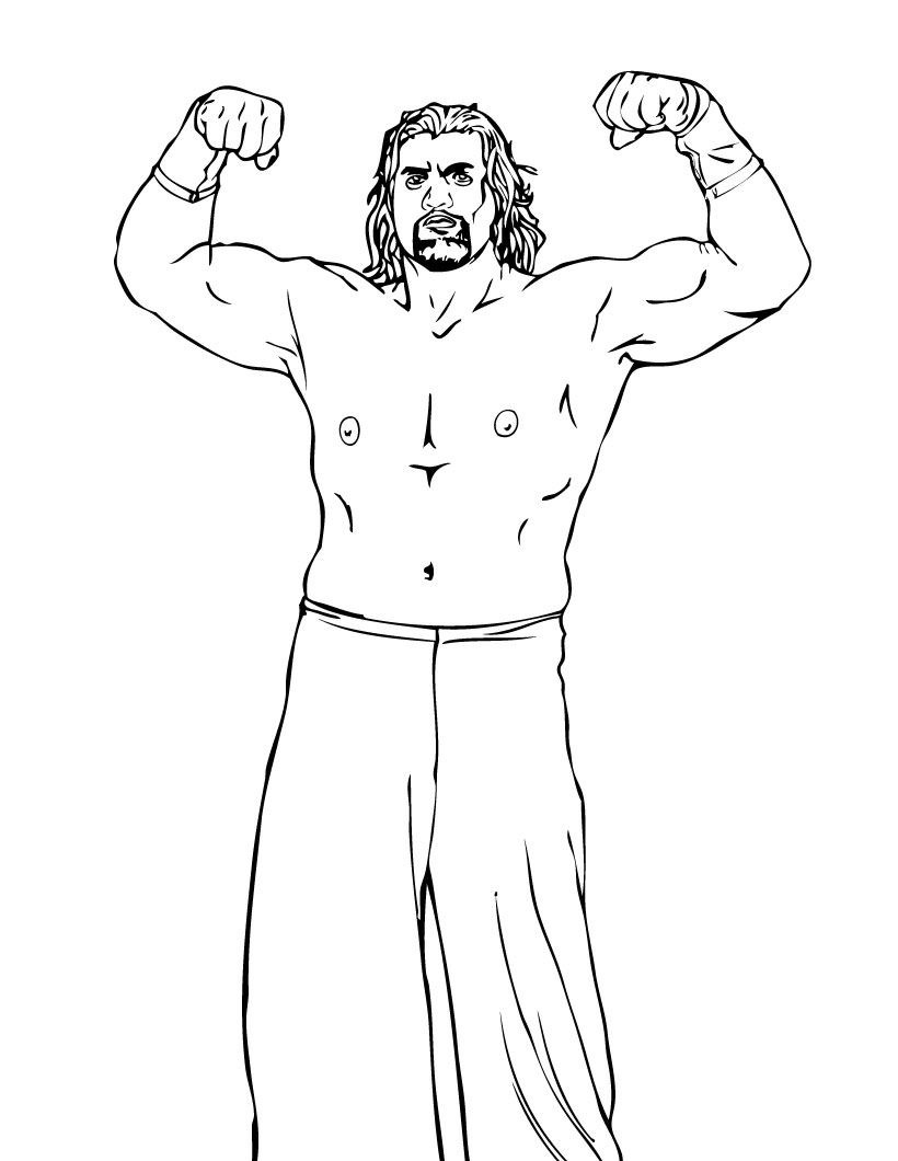 19 Best Wrestling Wwe Coloring Pages For Kids