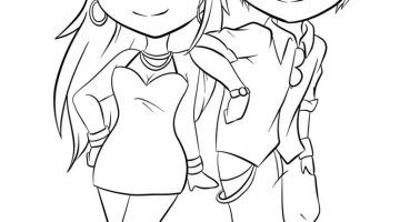Anime Couple Coloring Pages To Print