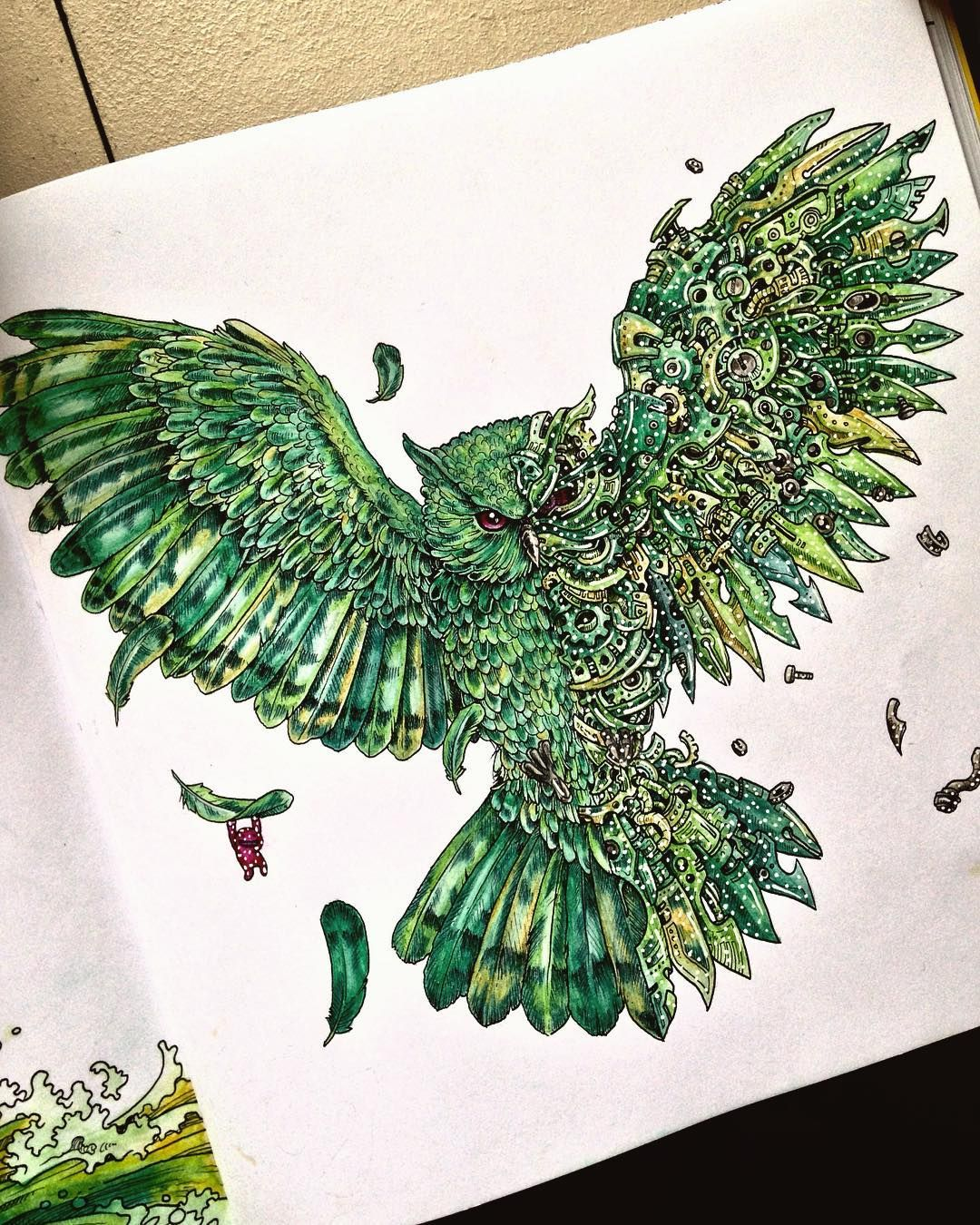 Green Colour Palette  A Page From The Imagimorphia Colouring Book