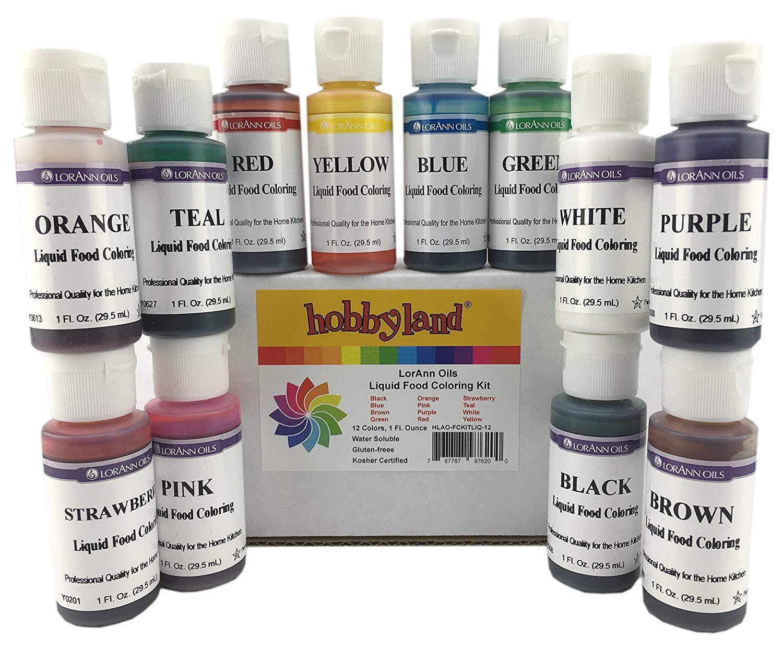 Amazon Com   Hobbyland Lorann Oils Food Coloring Kits (liquid Food