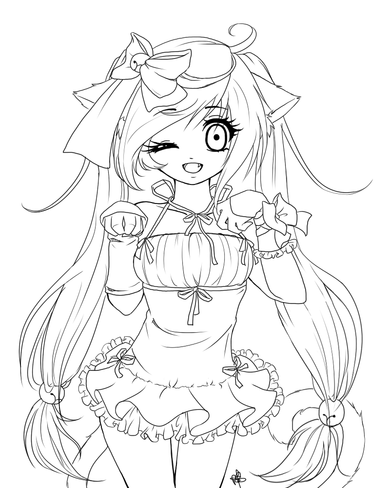 Anime Girl Coloring Pages 5  1640