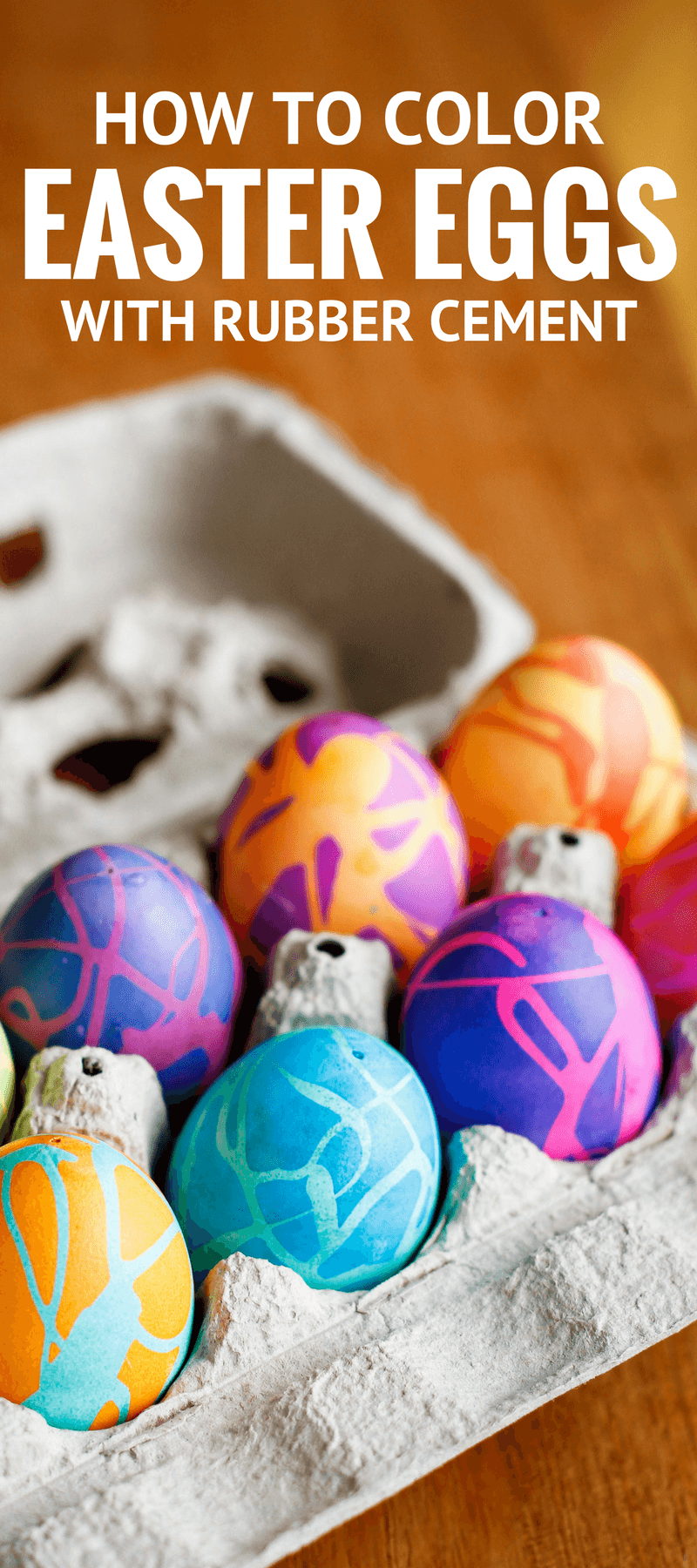 Coloring Easter Eggs W  Rubber Cement