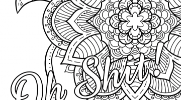 Bad Word Coloring Book