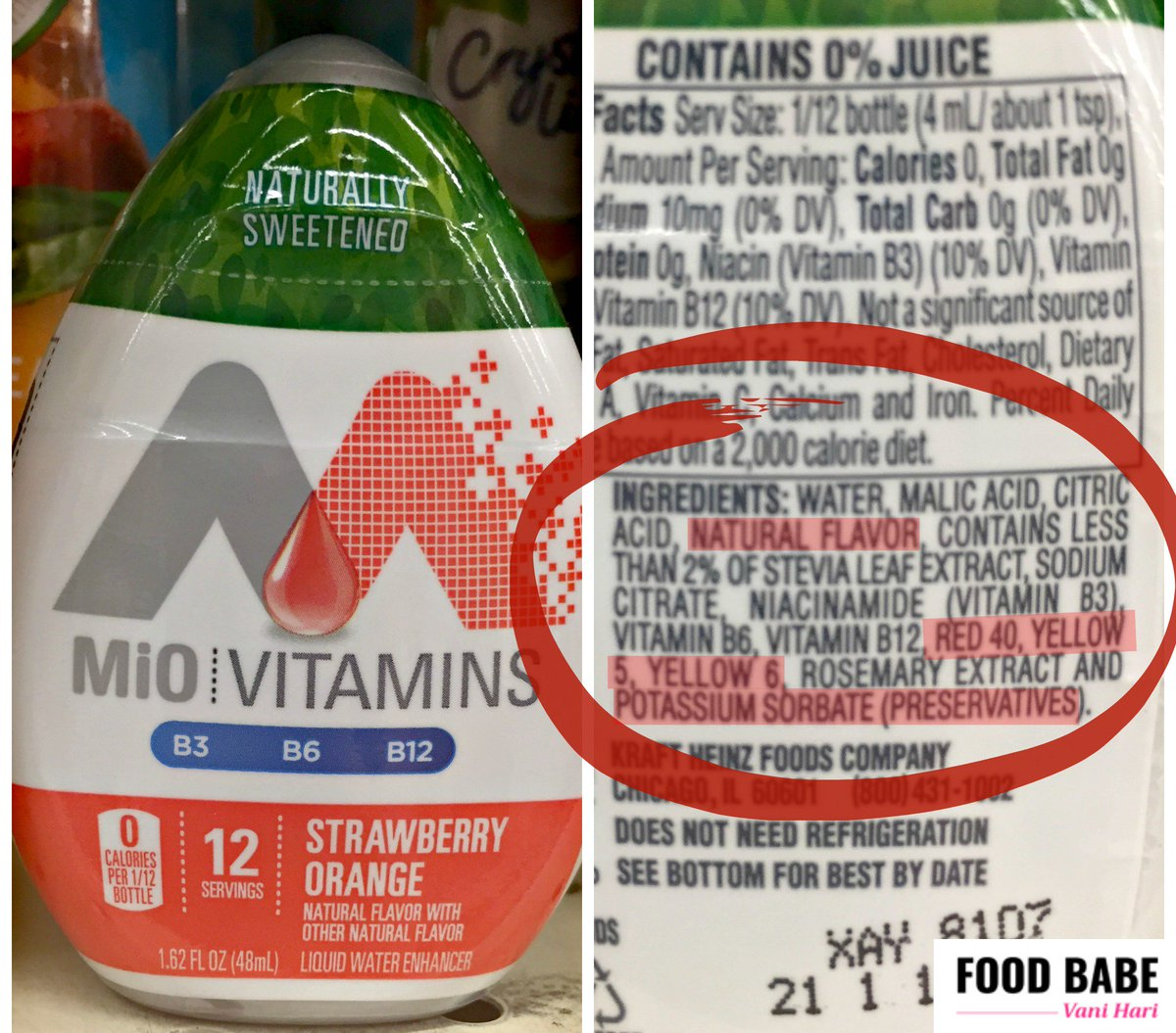 Food Babe On Twitter   This Water Enhancer By Mio Is Artificially