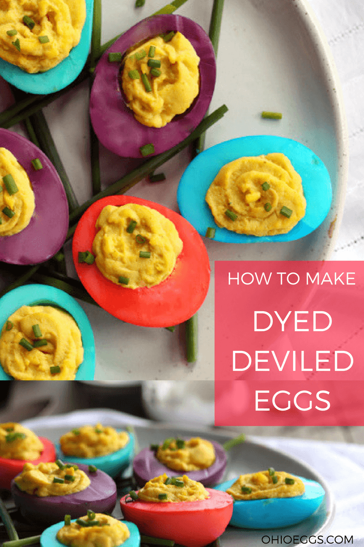 To Make Dyed Deviled Eggs, Use Gel Food Coloring To Dye The Egg