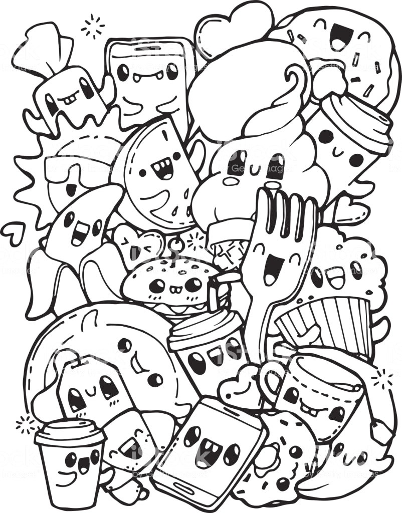 Food Coloring Pages Cute Zimeon Me Lively With Coloring Pages
