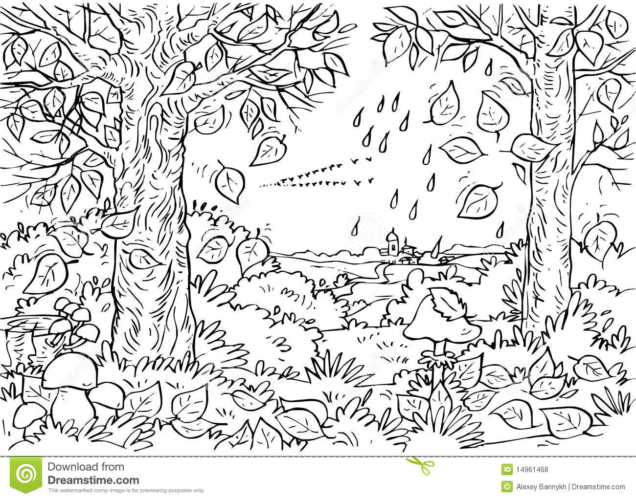 Forest In Autumn Stock Illustration  Illustration Of Forest