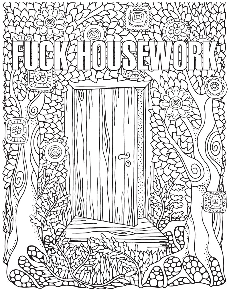 Coloring Pages   Free Printable Coloring Pages For Adults Swear
