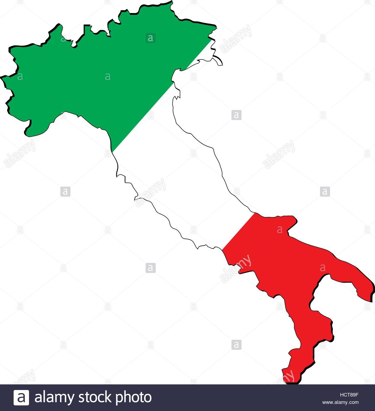 High Resolution Italy Map With Country Flag  Flag Of The Italy