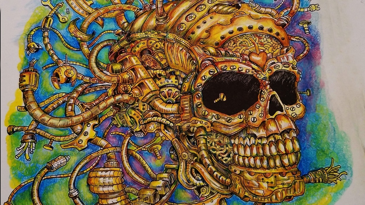 Color My World   Imagimorphia  The Gold Skull   Kerby Rosanes