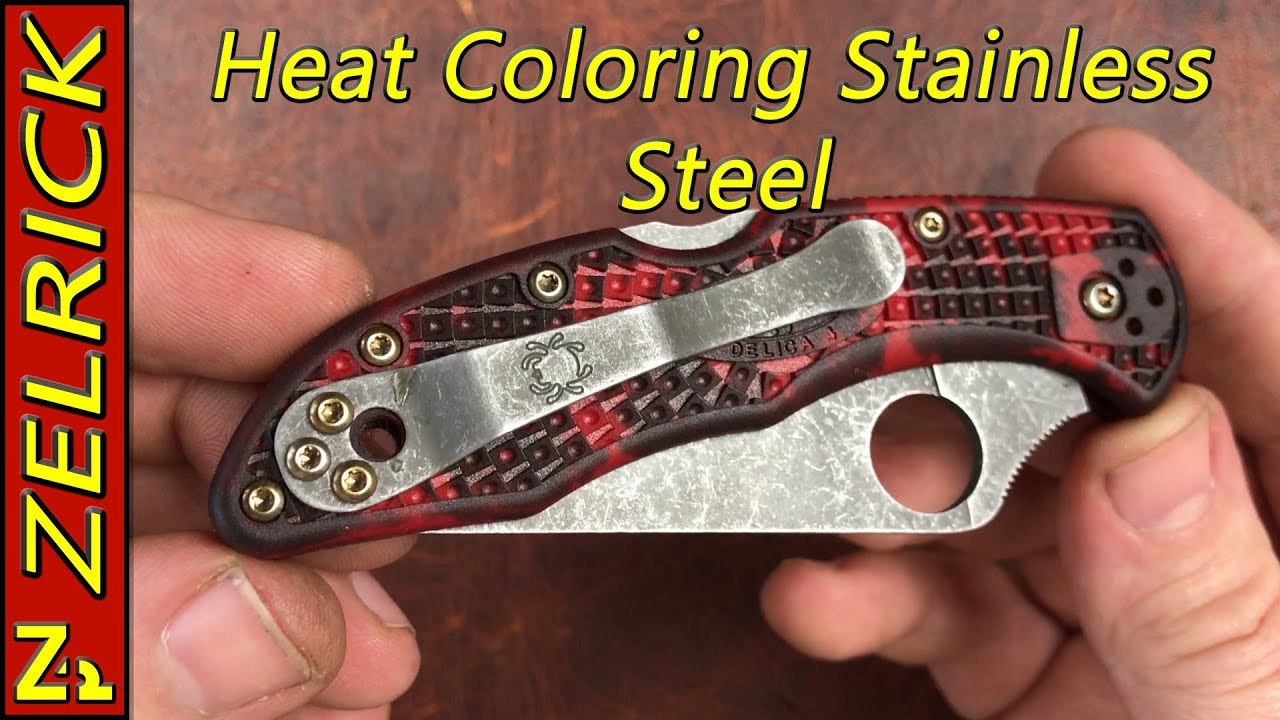 Heat Coloring Stainless Steel