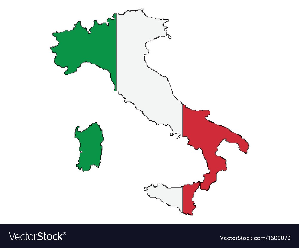 Outline Of Italy Royalty Free Vector Image