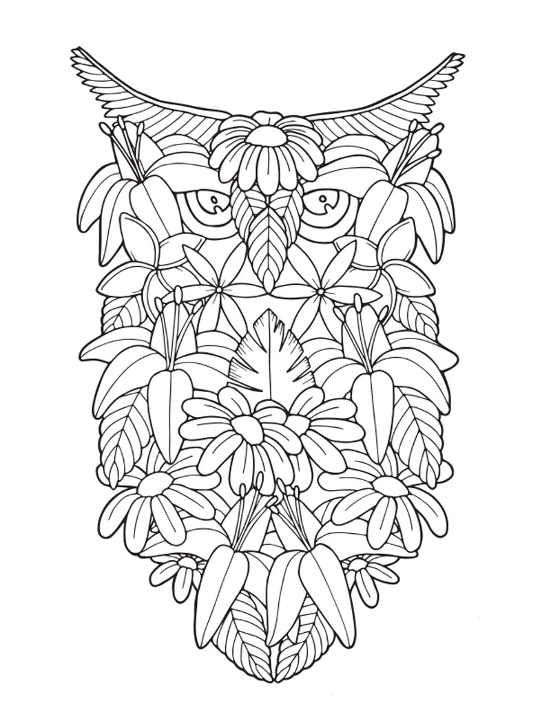 Adult Coloring Book  Tropical Travel Patterns