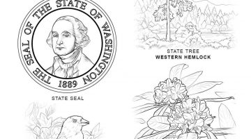 Georgia Flag Coloring Pages