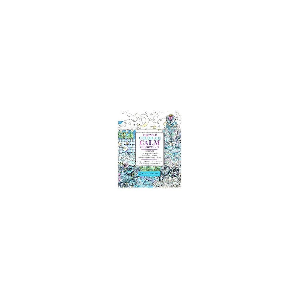 Portable Color Me Calm Coloring Kit Adult Coloring Book  70