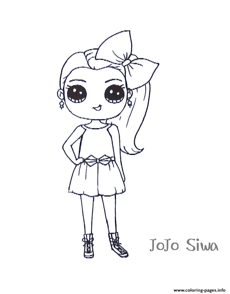 Jojo Siwa Cute Coloring Pages Printable