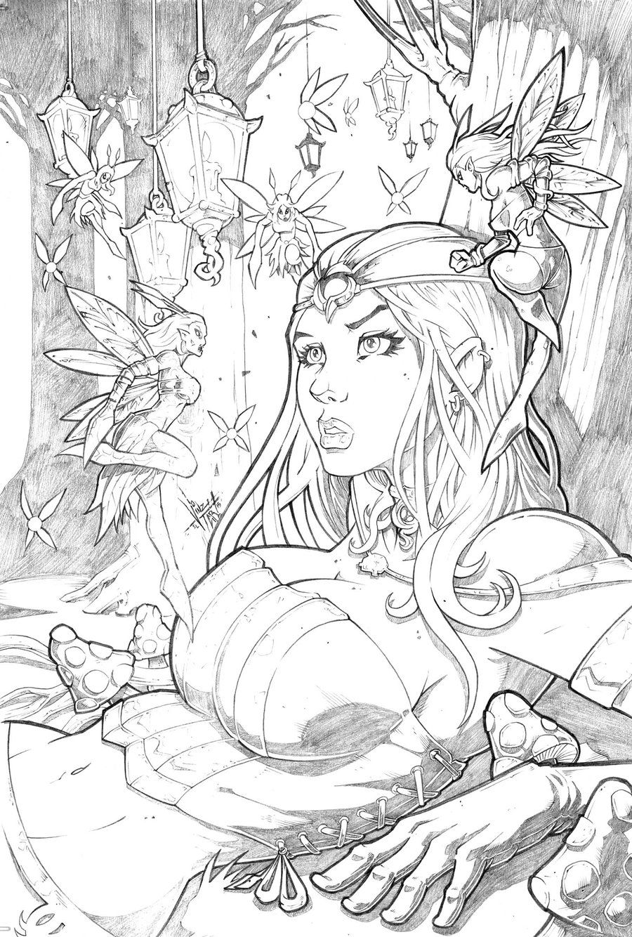 Grimm Fairy Tales Wonderland  35 Pencil By Vinz
