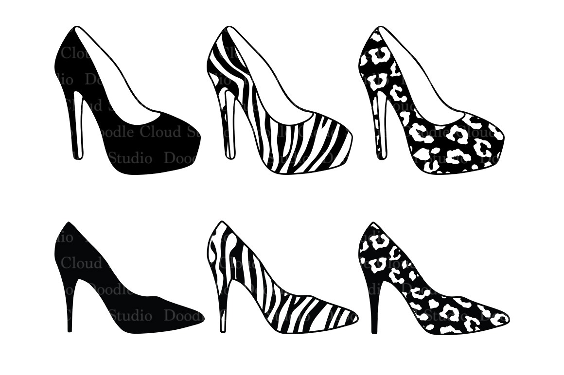 Women's High Heel Shoes Svg Files For Silhouette Cameo And Cricut