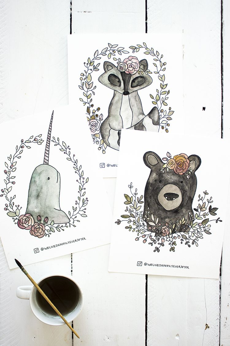 Free Printable Watercolor Adult Coloring Book Sheets