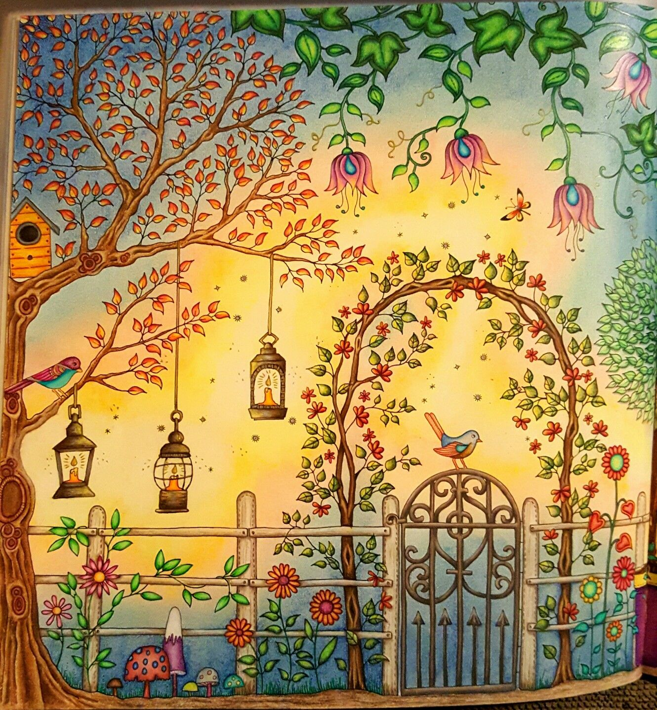 The Secret Garden Coloring Book Close Up Of Right Side Of Gazebo