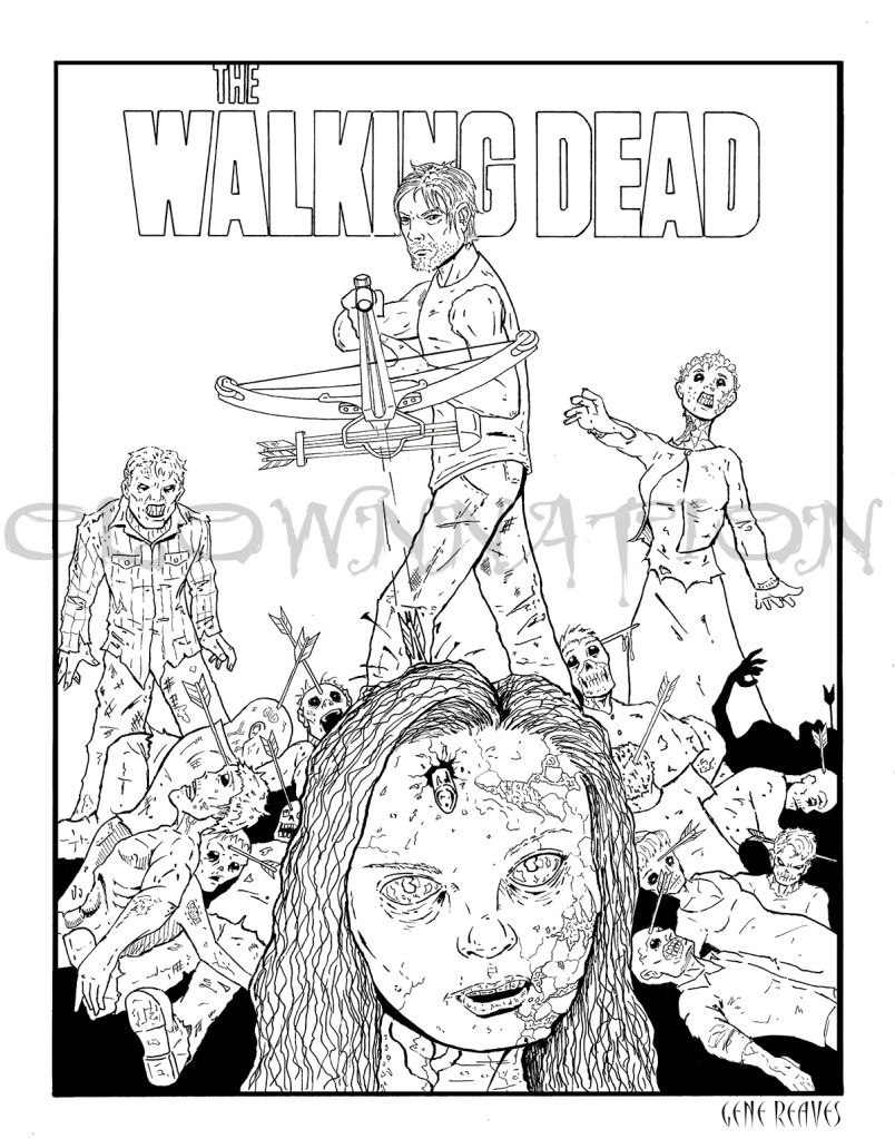 Walking Dead Coloring Pages To Print