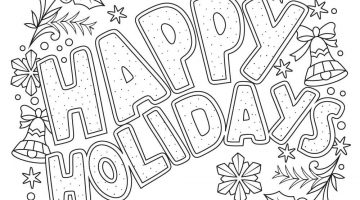 Christmas Printable Coloring Pages For Adults