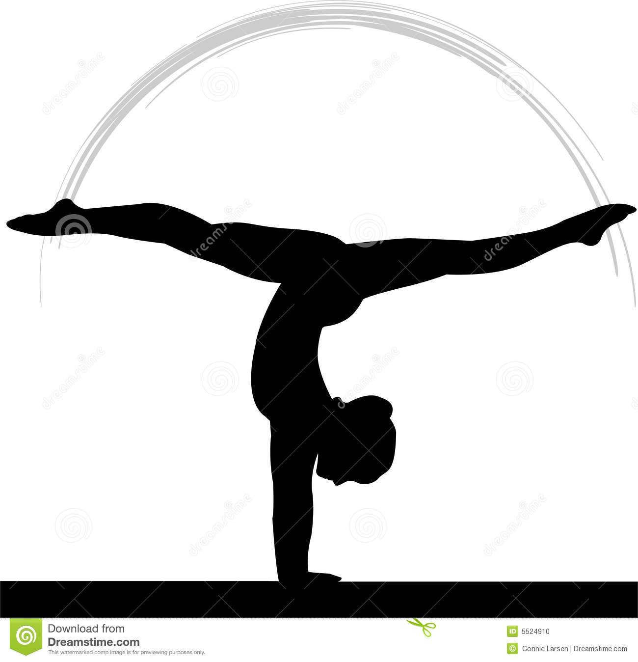 Gymnastics Clipart Silhouette Split Clipart Panda Free Clipart
