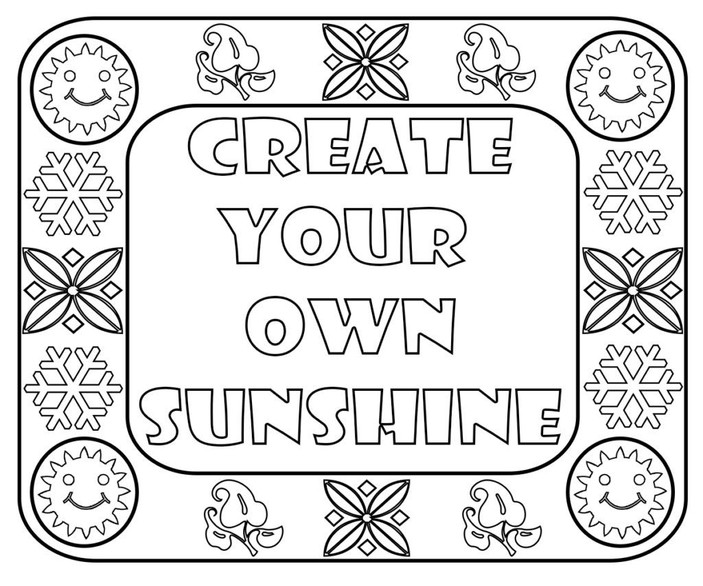 Cute Sayings Coloring Pages