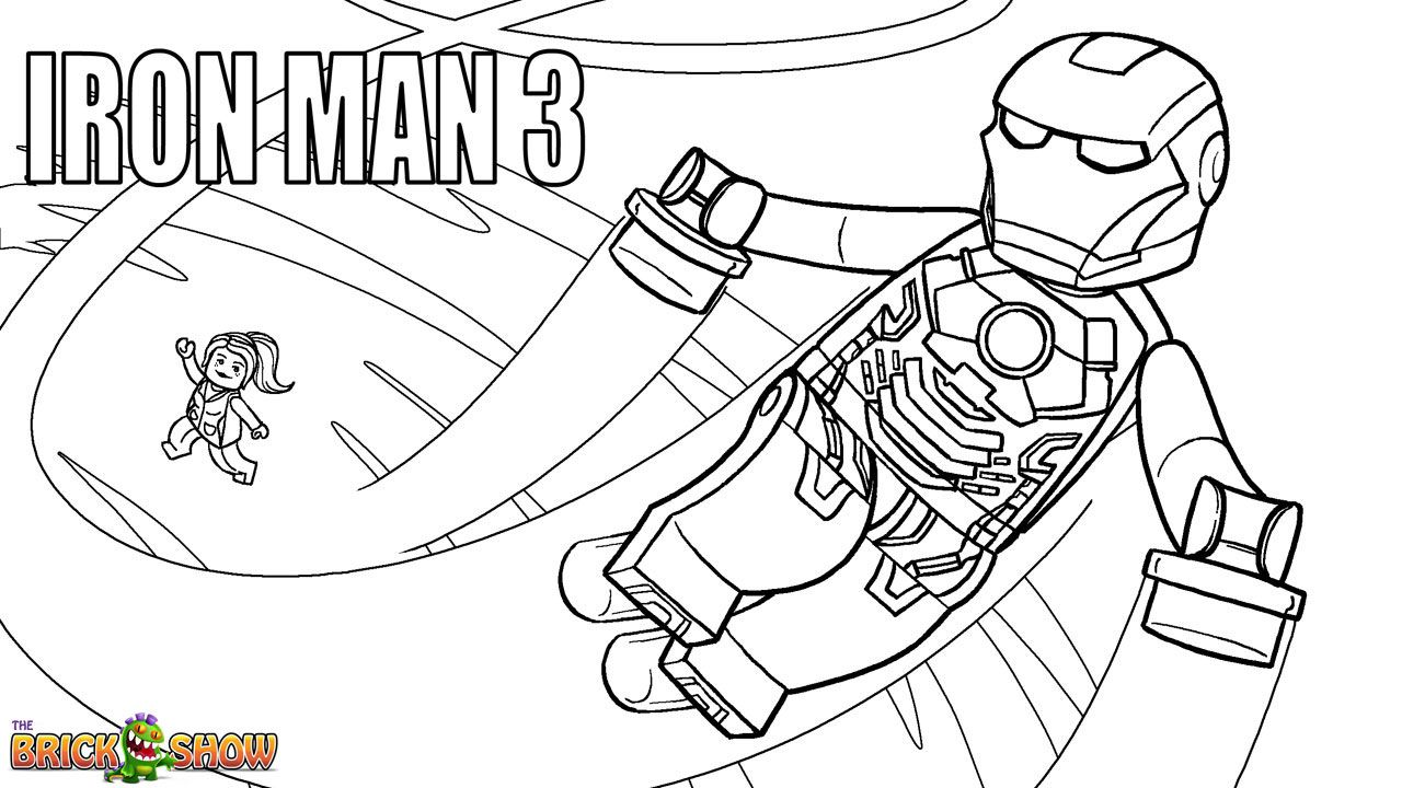 Lego Marvel Super Heroes Coloring Page, Lego Lego Iron Man 3