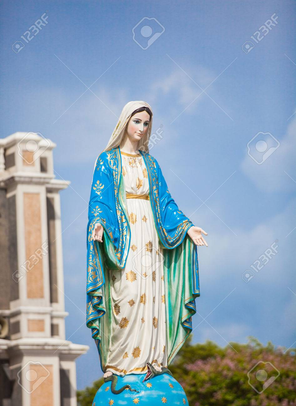 Mary Mother Of Jesus In Roman Catholic Diocese Or Cathedral Of