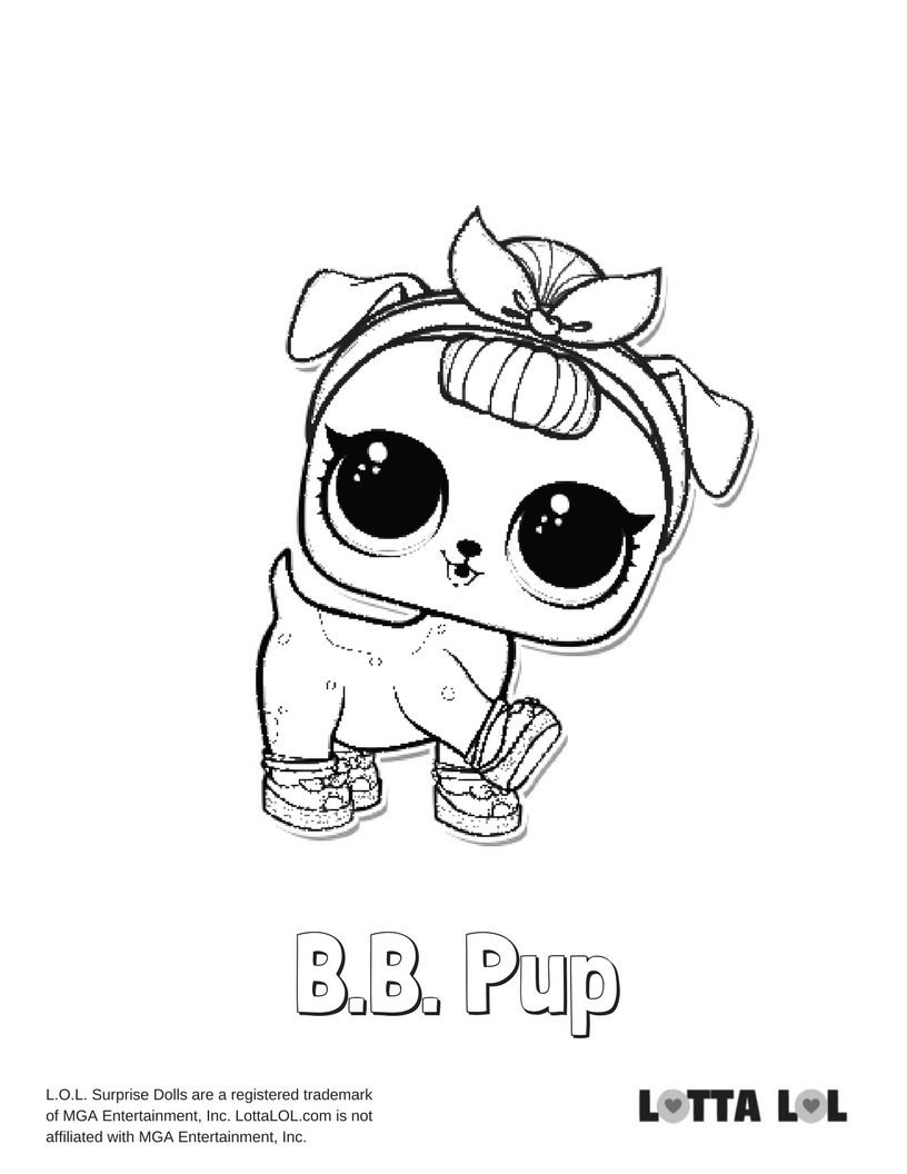 Bb Pup Coloring Page Lotta Lol
