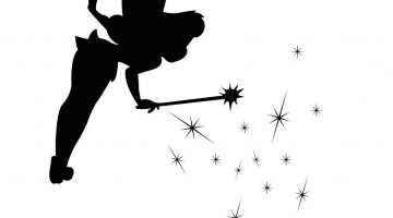Tinkerbell Silhouette Vector Free