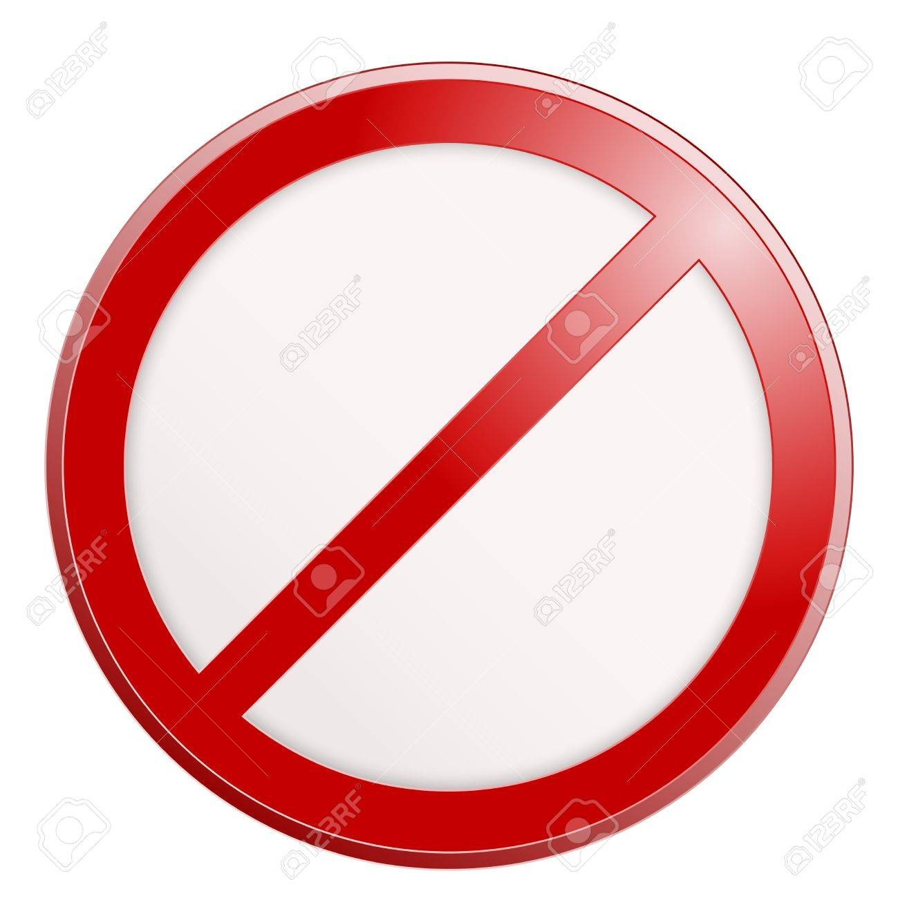 Stop Sign  No Sign Template  Vector Realistic Illustration