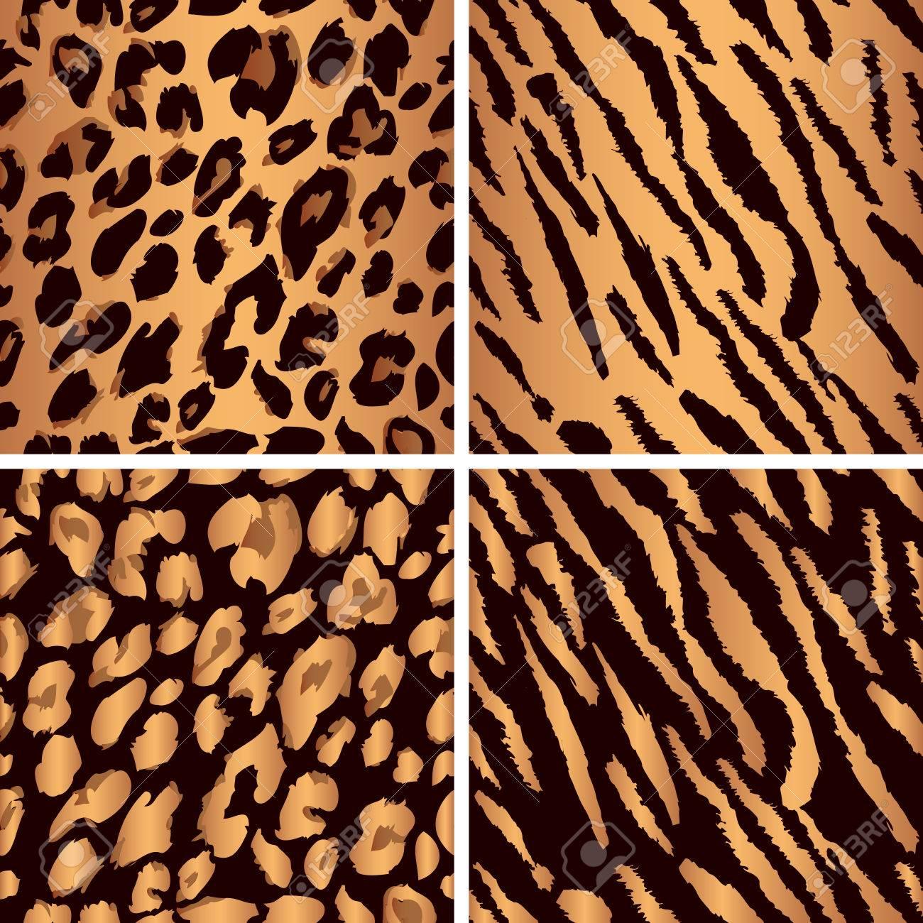 Set Leopard Print Pattern  Set Tiger Print Pattern  Set A Jaguar