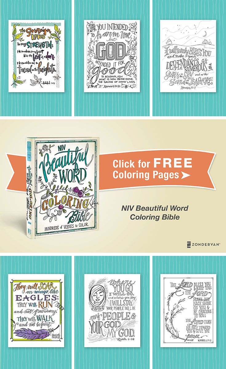Scripture Coloring Pages From The Niv Beautiful Word Coloring