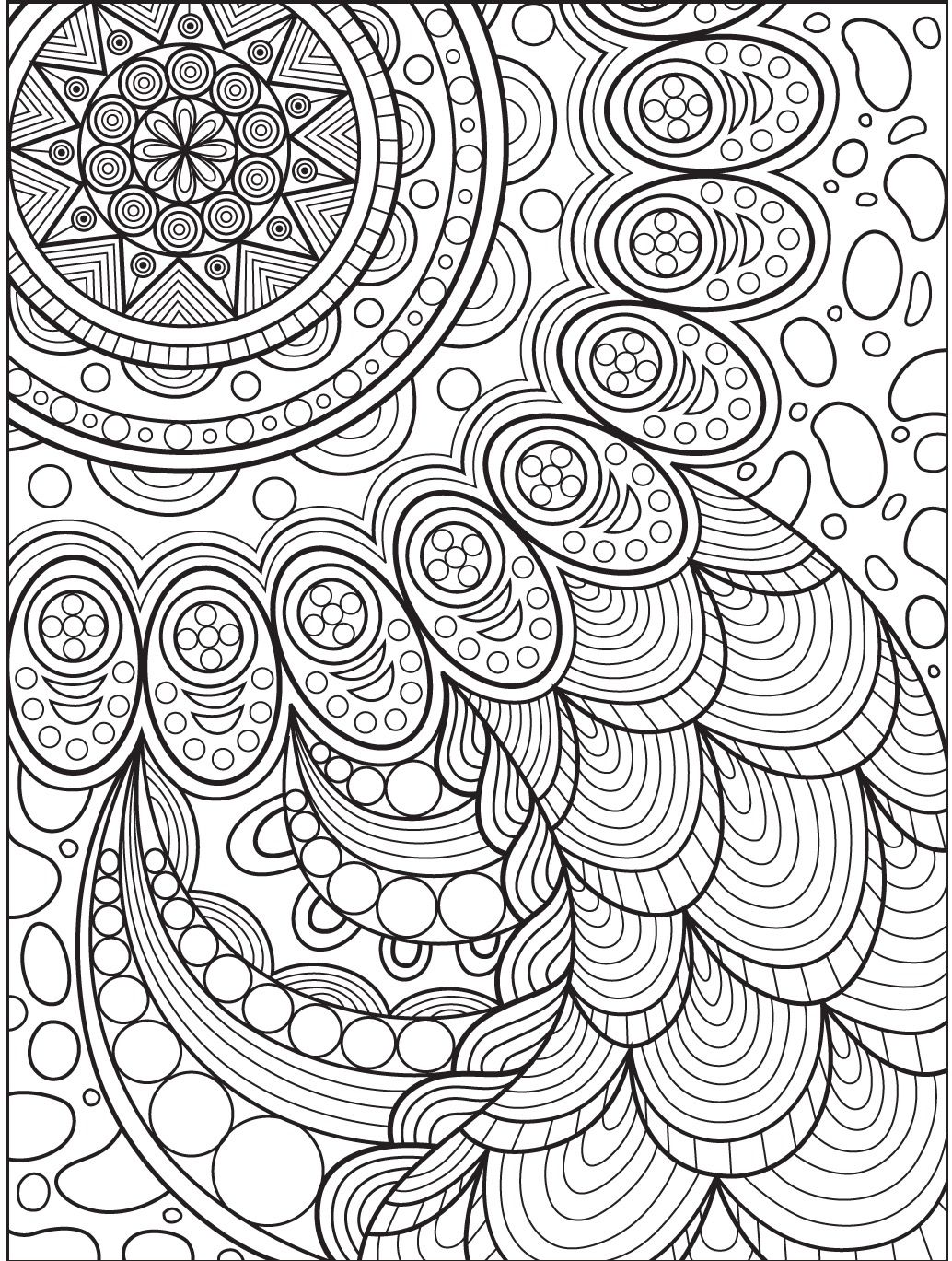 Abstract Coloring Page On Colorish  Coloring Book App For Adults