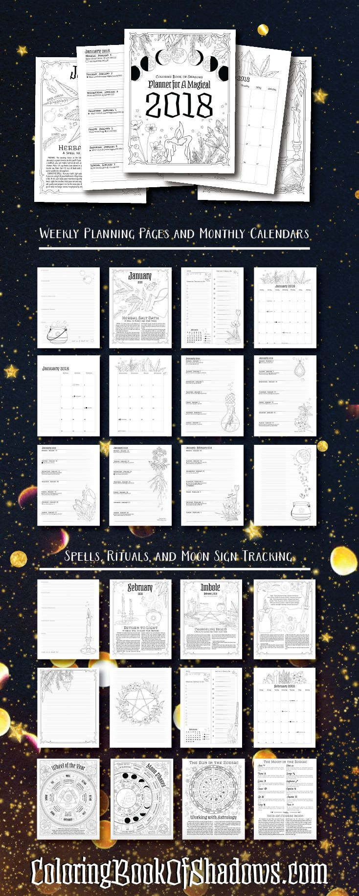 Planner For A Magical 2018  Printable Pdf!
