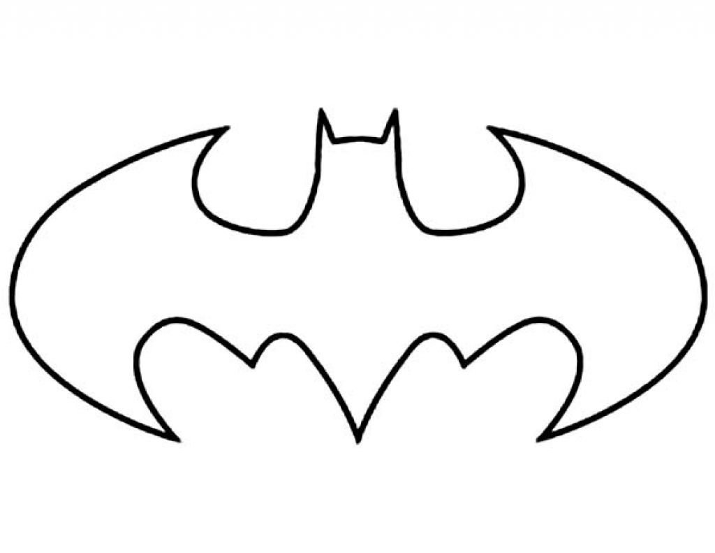 Batman Logo Coloring Pages Cartoonrocks With The Most Elegant