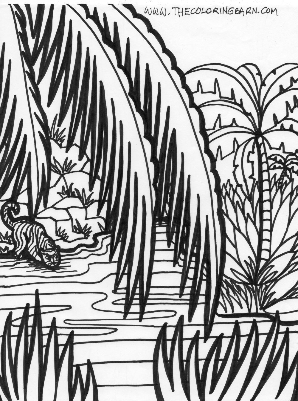 Jungle Printable Coloring Pages The Barn