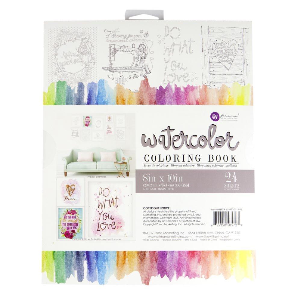 Amazon Com  Prima Marketing 585723 8x10 Watercolor Coloring Book