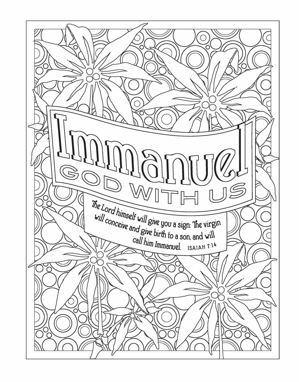 Amazon Com  Color The Names Of God  An Adult Coloring Book For