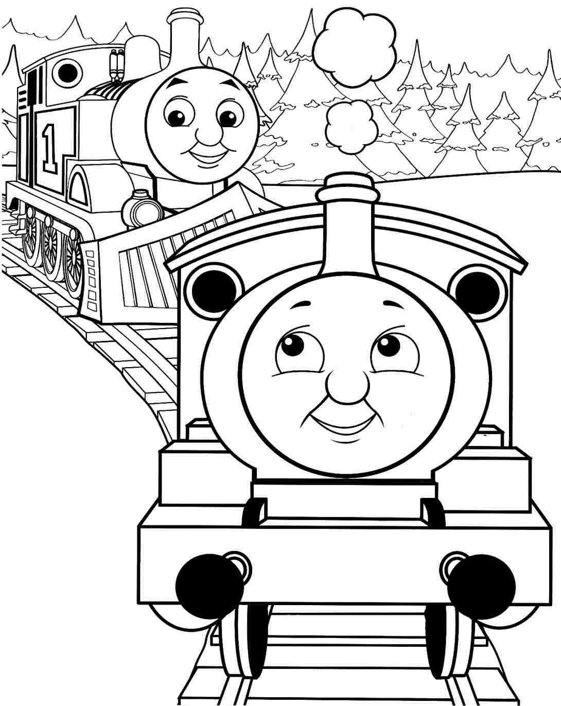 Simple Thomas The Train Coloring Pages · Thomas The Train Coloring