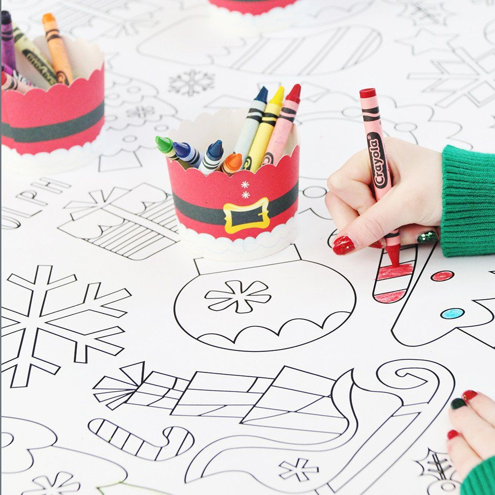 Christmas Coloring Tablecloth