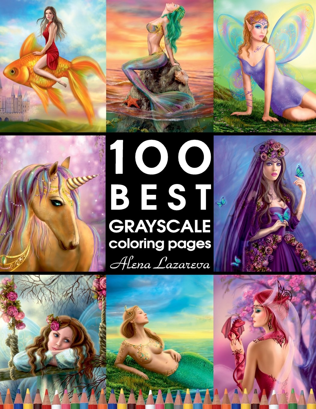 100 Best Grayscale Coloring Pages By Alena Lazareva  Perfect Gift