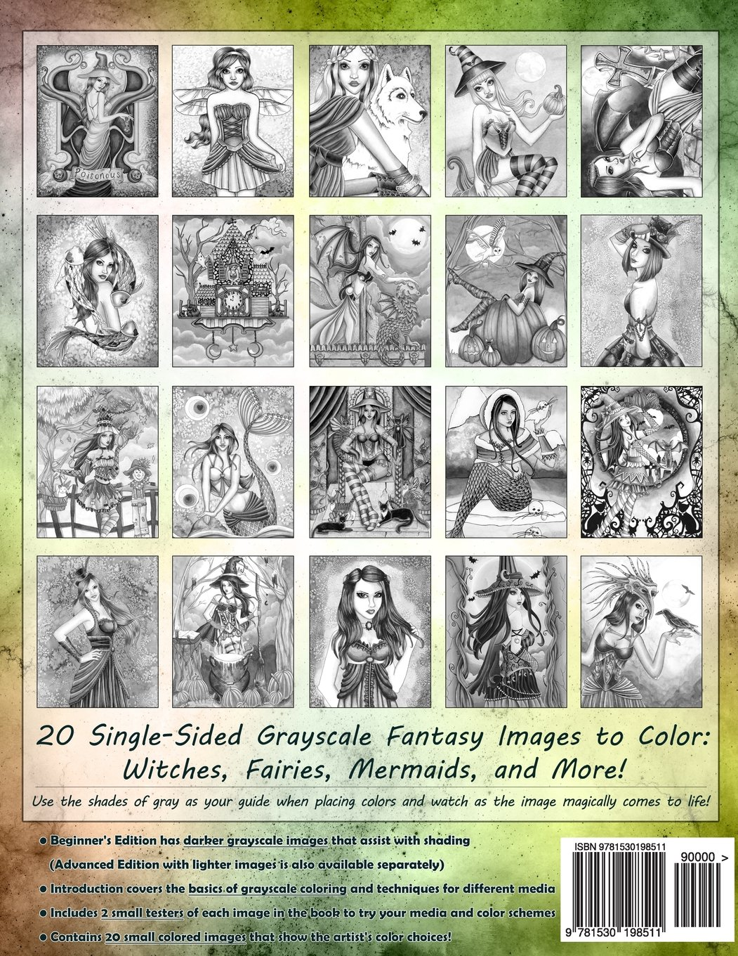 Spellbinding Images  A Grayscale Fantasy Coloring Book  Beginner's