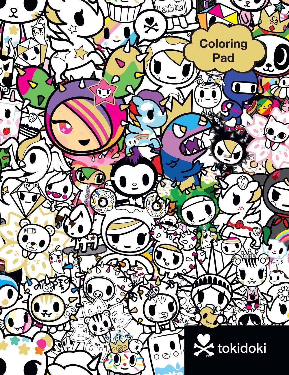 Tokidoki Coloring Pad  Tokidoki  9781454921837  Amazon Com  Books