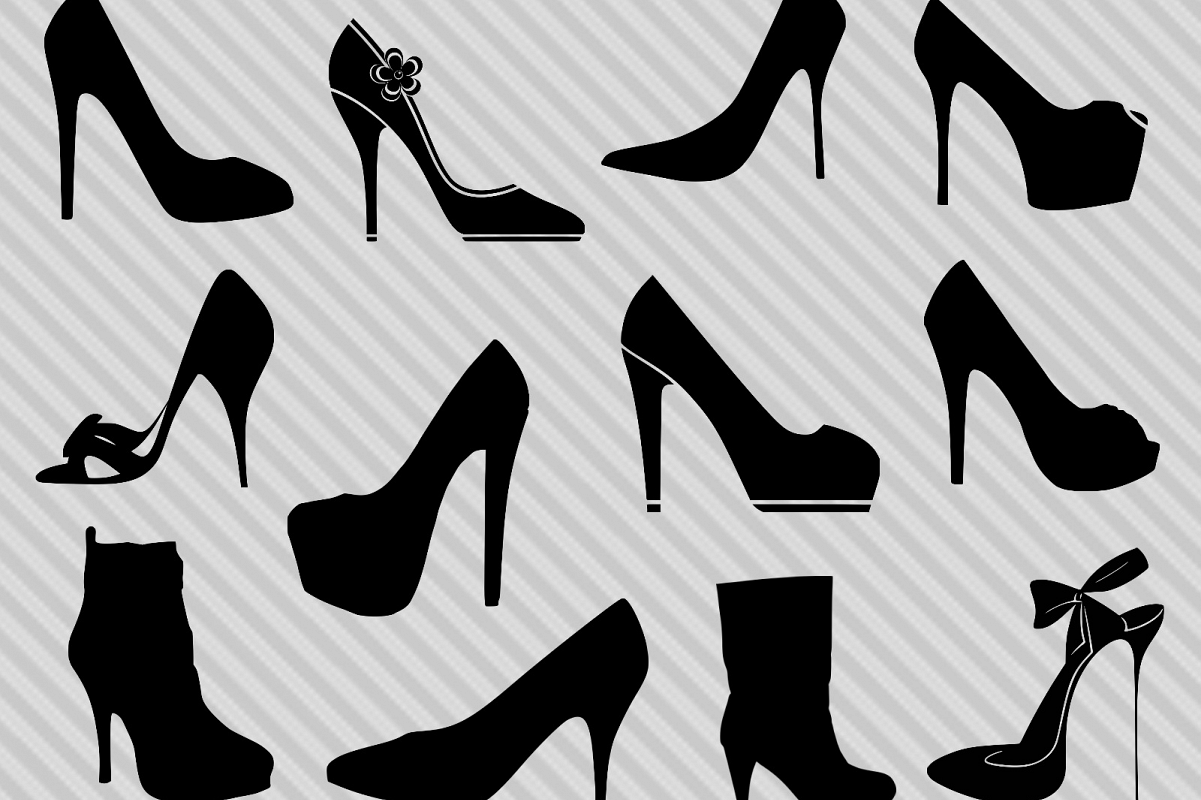 High Heels Svg Bundle, High Heels Clipart, High Heel Silhouette