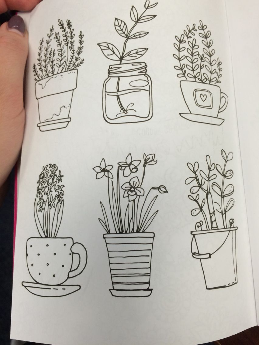 Flower Pot Doodles …