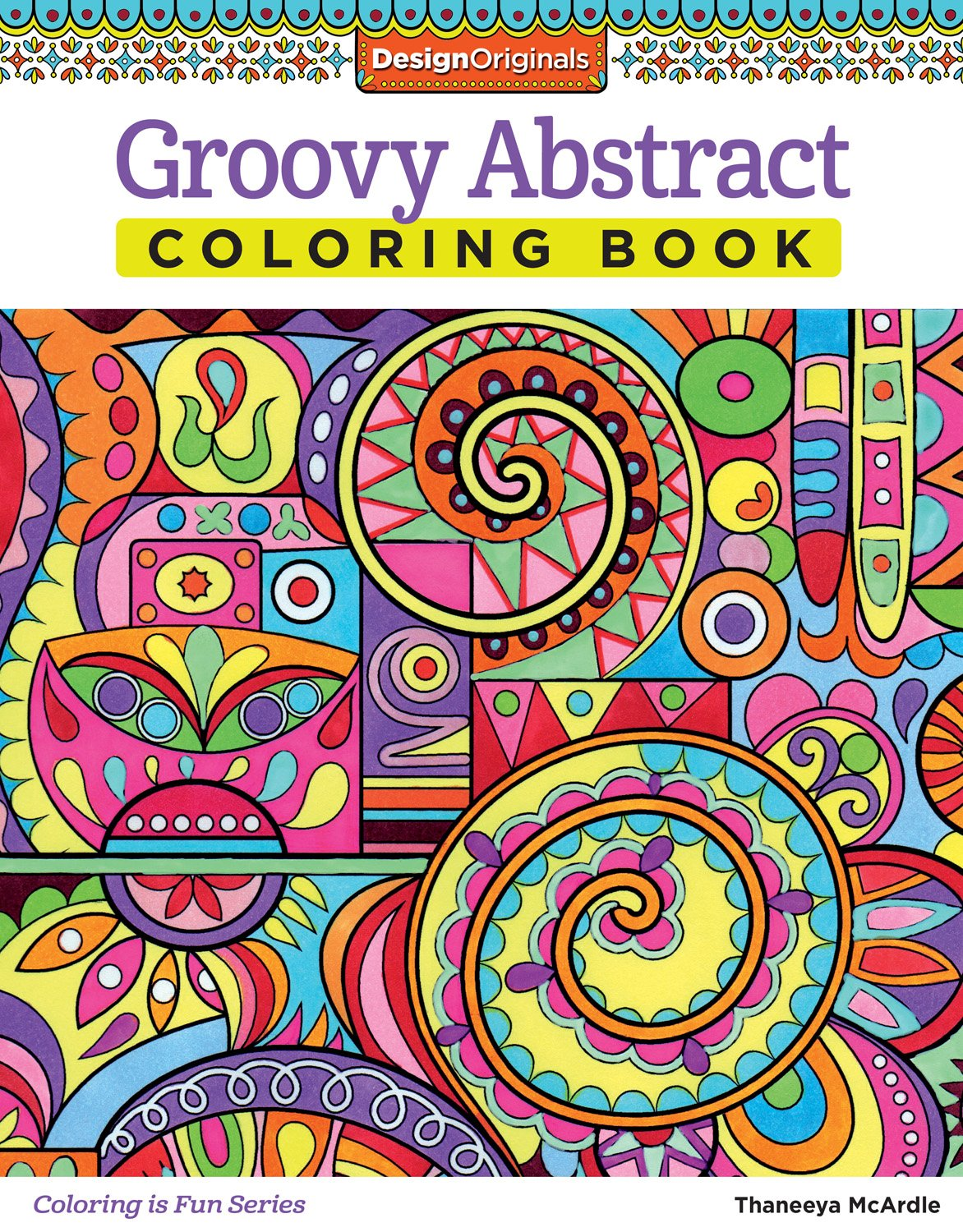 Amazon Com  Groovy Abstract Coloring Book (design Originals